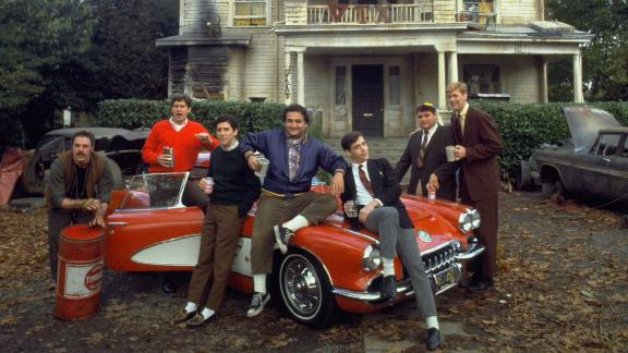 """In 1978's ultimate college caper, """"Animal House,"""" Dean Wormer wants to expel the wild Delta Tau Chi fraternity, but these party animals won't go quietly. Click through for more movies that chronicled college life."""