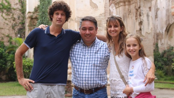 The Walkers were grateful to Allan Sigueros, a man who took them in in Guatemala City.