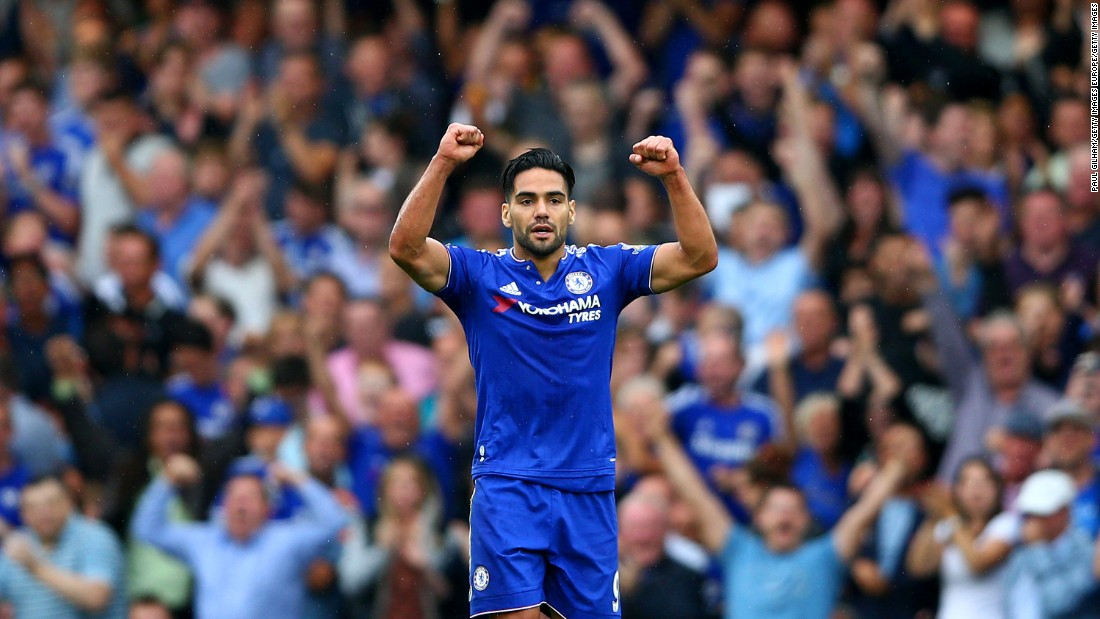 Radamel Falcao responded with his first Chelsea goal to level matters.