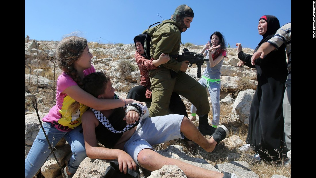 Some residents of Nabi Saleh have been staging protests for years against Israel's settlement policy. Sometimes the protests turn violent, with Palestinian youths throwing stones and Israeli soldiers firing tear gas and rubber bullets.