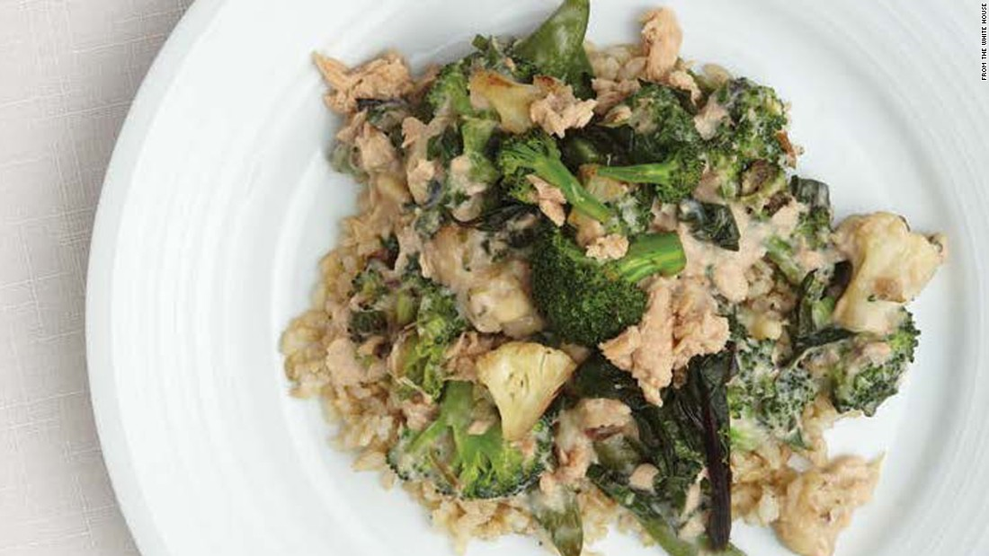 "<a href=""http://www.cnn.com/2015/09/03/health/deliciousness-over-rice-recipe/index.html""><strong>CLICK HERE FOR PRINTABLE RECIPE</strong></a><br /><br />Winning recipe from 2015 Health Lunchtime Challenge: Deliciousness over rice, submitted by 10-year-old Sable Scotton of Alaska"