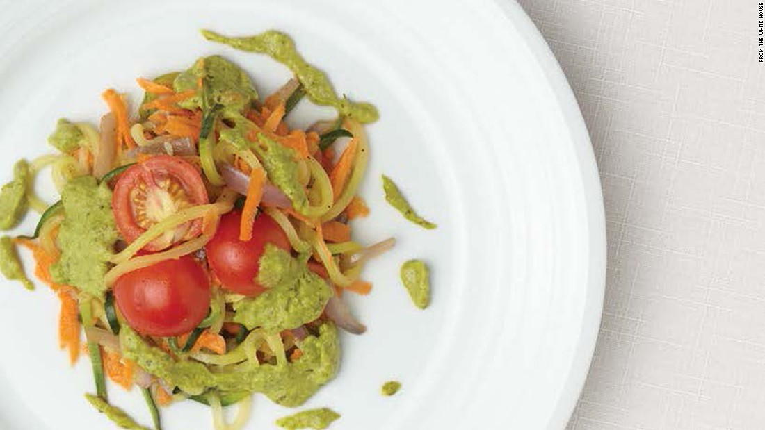 "<a href=""http://www.cnn.com/2015/09/03/health/oodles-of-zoodles-with-avocado-pistachio-pesto/index.html""><strong>CLICK HERE FOR PRINTABLE RECIPE</strong></a><br /><br />Winning recipe from 2015 Healthy Lunchtime Challenge: Oodles of zoodles with avocado pistachio pesto, submitted by 10-year-old Nia Thomas of Arizona"