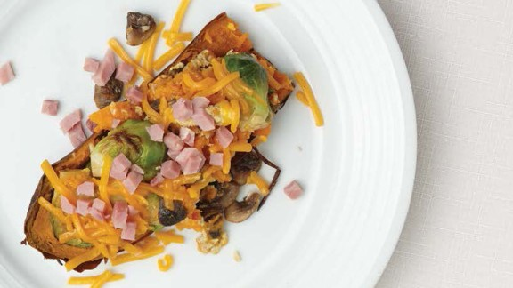 CLICK HERE FOR PRINTABLE RECIPE  Winning recipe from 2015 Healthy Lunchtime Challenge: Hannah's eggy potato scramble, submitted by 10-year-old chef Hannah Betts of Connecticut