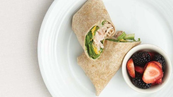 CLICK HERE FOR PRINTABLE RECIPE  Winning recipe from 2015 Healthy Lunchtime Challenge: Shake it off with a turkey roll submitted by 9-year-old Izzy Washburn of Kentucky