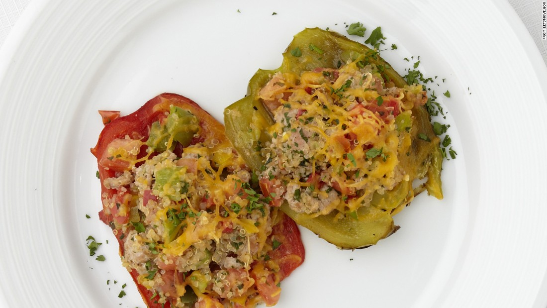 "<a href=""http://www.cnn.com/2015/09/03/health/mediterranean-peppers-recipe/index.html""><strong>CLICK HERE FOR PRINTABLE RECIPE</strong></a><br /><br />Winning recipe from 2014 Healthy Lunchtime Challenge: Mediterranean peppers deluxe, submitted by 10-year-old Adrianna Nelson of West Virginia"