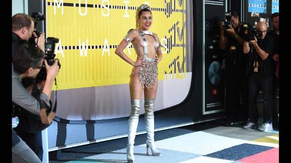 Miley Cyrus attends the 2015 MTV Video Music Awards at Microsoft Theater on Sunday, August 30, in Los Angeles.
