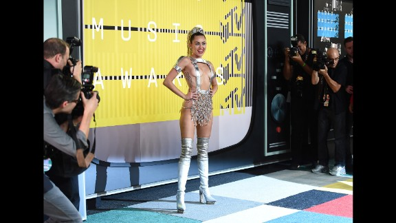 We should have known what kind of night it was going to be Sunday at the 2015 MTV Video Music Awards when host Miley Cyrus arrived in a breast-baring silver Atelier Versace outfit. Here