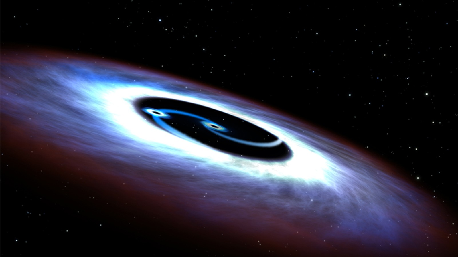 08 >> Double black hole powering quasar, astronomers find - CNN