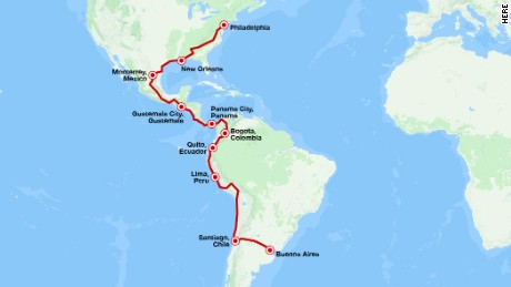 The Walkers' odyssey from Buenos Aires to Philadelphia.
