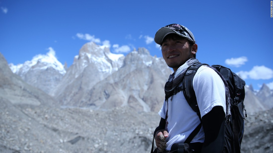 """By climbing and webcasting from Everest, I want to tell people that we can try together and share our adventures in life so they can keep trying for their dream,"" Kuriki told CNN. Kuriki is seen here during his Broad Peak expedition in 2014."