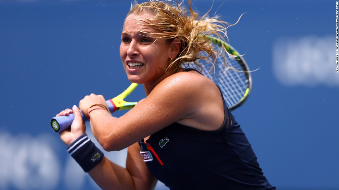 She was ousted by 2014 Australian Open finalist Dominika Cibulkova in three sets.