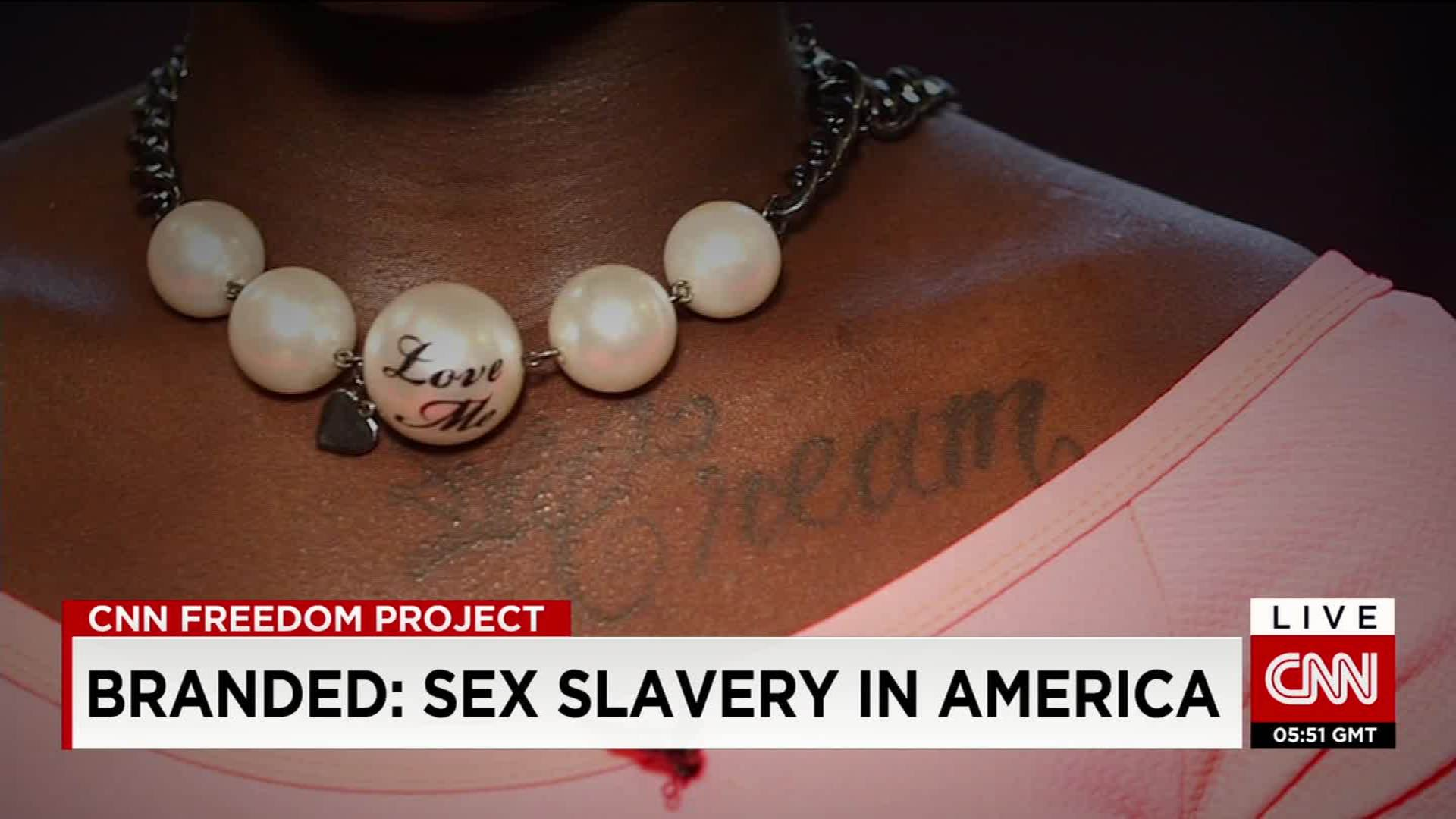 17-year-old says she was branded by her pimp - CNN Video