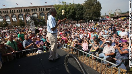 DES MOINES, IA - AUGUST 16:  Republican presidential hopeful Ben Carson speaks during the Iowa State Fair on August 16, 2015 in Des Moines, Iowa.  Presidential candidates are addressing attendees at the Iowa State Fair on the Des Moines Register Presidential Soapbox stage and touring the fairgrounds. The State Fair runs through August 23.  (Photo by Justin Sullivan/Getty Images)