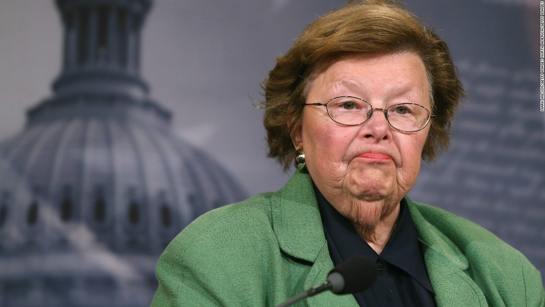 U.S. Sen. Barbara Mikulski, D-Maryland, has represented Maryland in the Senate since 1987.