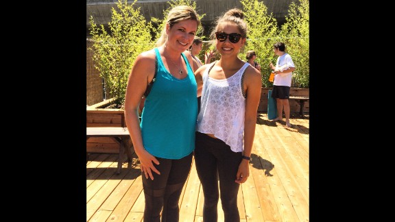 Degener credits Jenni Wendell (left),owner of Just Be Yoga, in Walnut Creek, California, with helping to redirect her life.