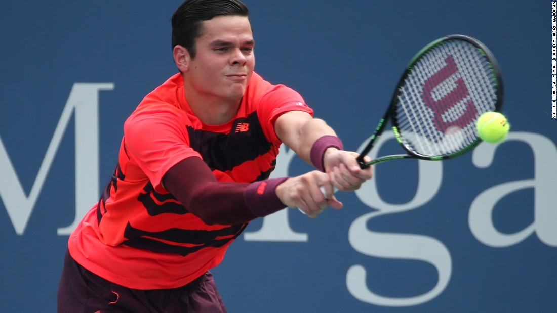 Despite needing treatment for a back injury, 2014 Wimbledon semifinalist Milos Raonic defeated Fernando Verdasco in four sets.