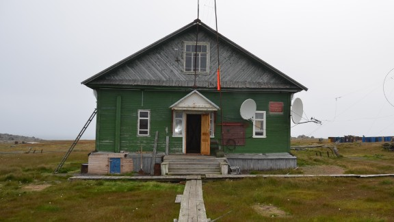 The presence of the bears is preventing a team of meteorologists and engineers from leaving the weather station on the island of Vaygach to measure water temperatures in the Arctic Sea.
