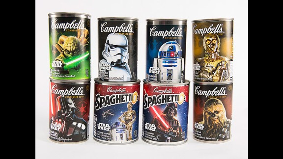 """A hungry Jedi can enjoy Campbell's """"Star Wars""""-themed soups."""