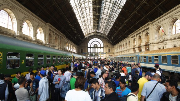 A general view of the Keleti station in Budapest, Hungary on Thursday, September 3. The station has been reopened to migrants after it was closed for three days, forcing many to sleep outside the station. But there was bad news for those on board -- only domestic trains were leaving the station, a Hungarian government spokesman told CNN.