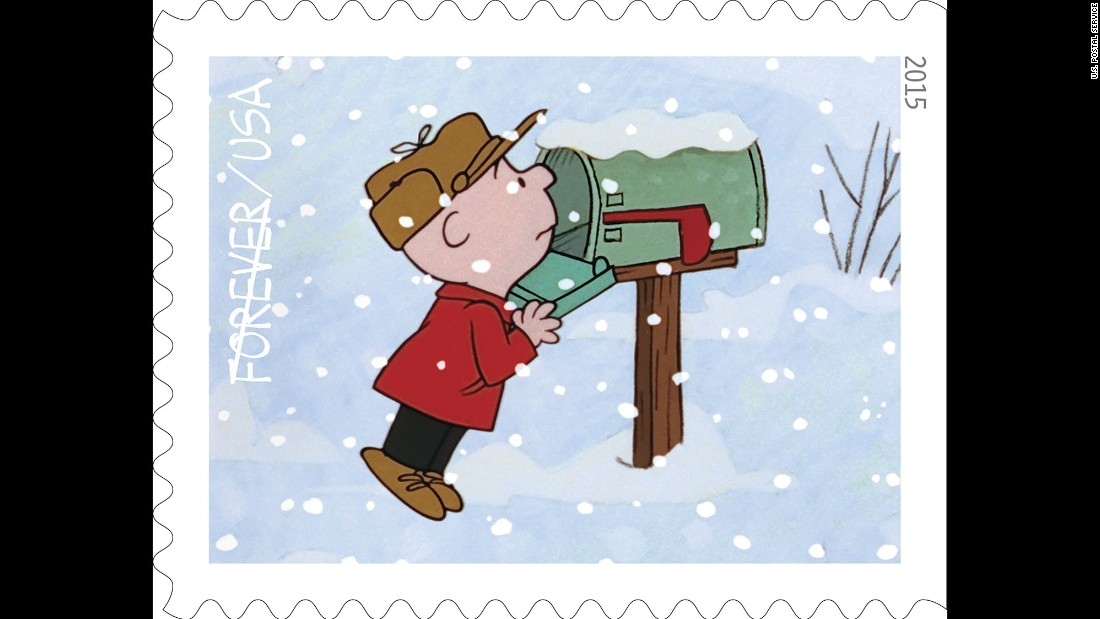 charlie brown searches in vain in his mailbox for a christmas card