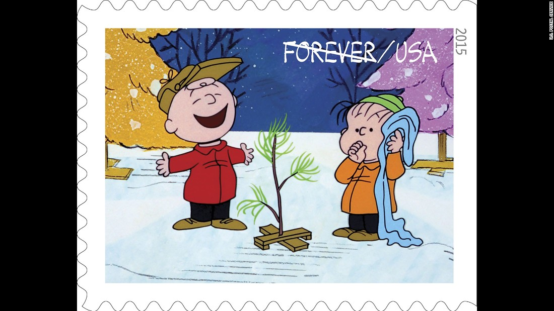 charlie brown and linus with a little tree chosen by charlie brown as a christmas symbol