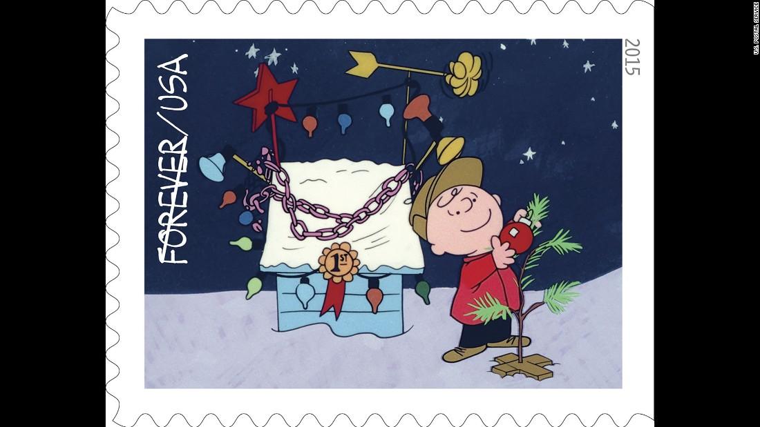 Charlie Brown Christmas 50th.Charlie Brown Christmas Stamps Go On Sale Cnn