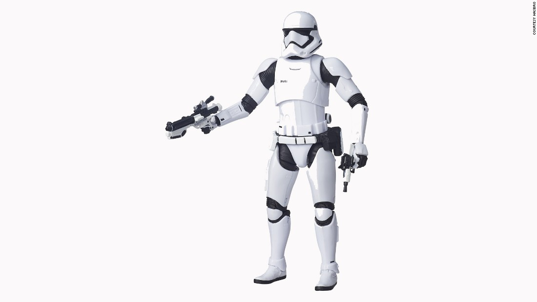 The stormtroopers have a new look as part of the First Order.