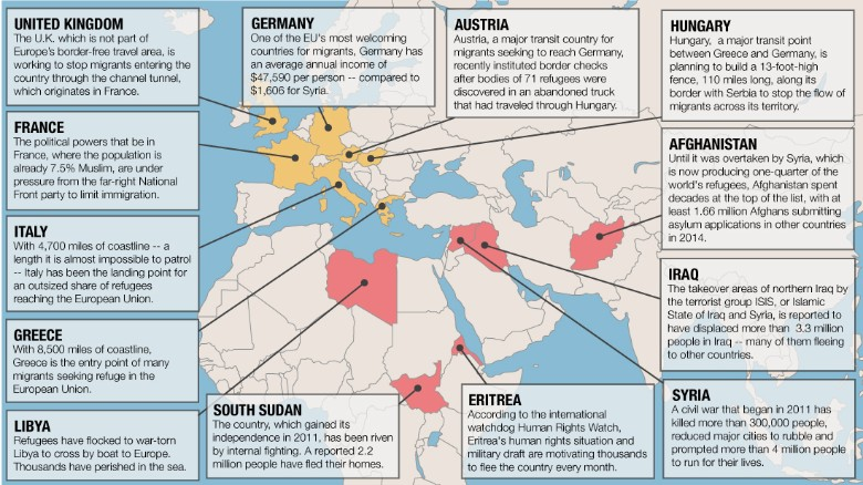 most every euan country has been affected in some way and leaders and citizens around the continent for the most part have adopted positions that