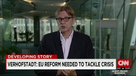 exp Guy Verhofstadt discusses the ongoing refugee crisis in Europe_00002001