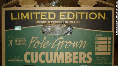 Andrew & Williamson Fresh Produce is voluntarily recalling all cucumbers sold under the Limited Edition label during the period from August 1, 2015 through September 3, 2015.