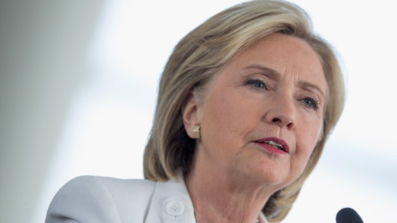Democratic presidential candidate and former U.S. Secretary of State Hillary Clinton speaks to guests gathered for a campaign event on the campus of Des Moines Area Community College on August 26, 2015 in Ankeny, Iowa.