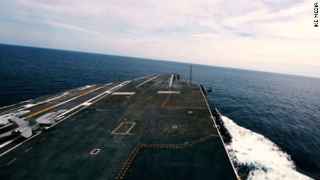 See aircraft carrier tested at top speed