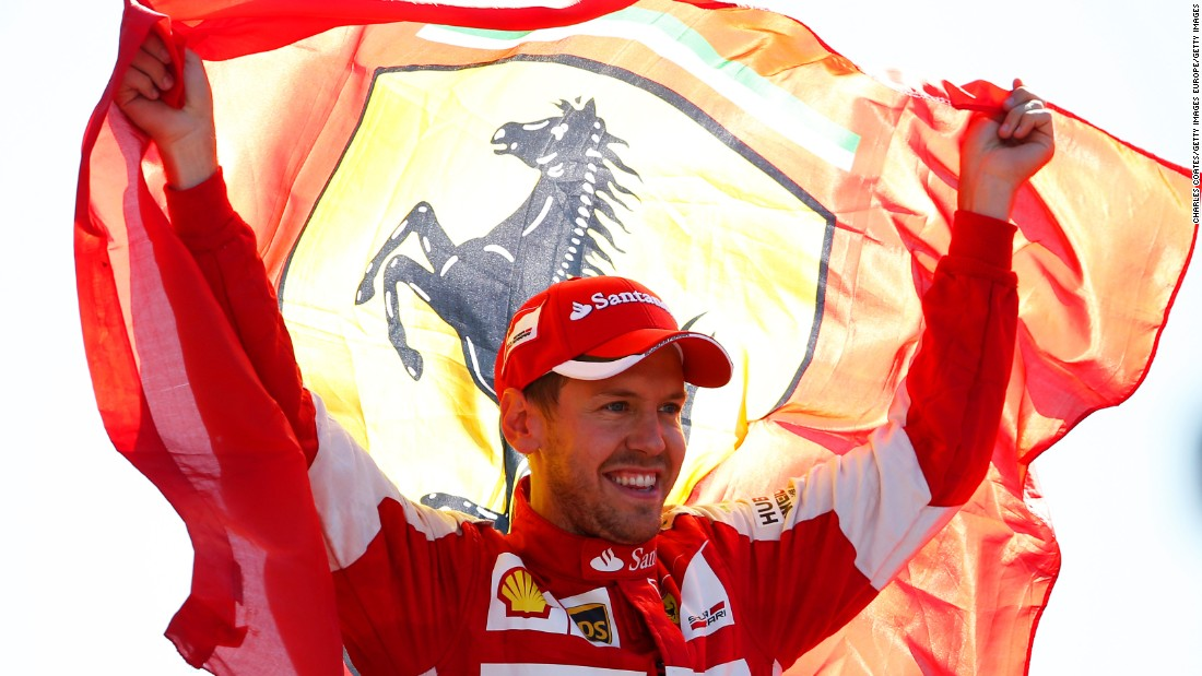 Sebastian Vettel delighted the vociferous home crowd by finishing second in his Ferrari while Felipe Massa, a former Ferrari driver, came third.