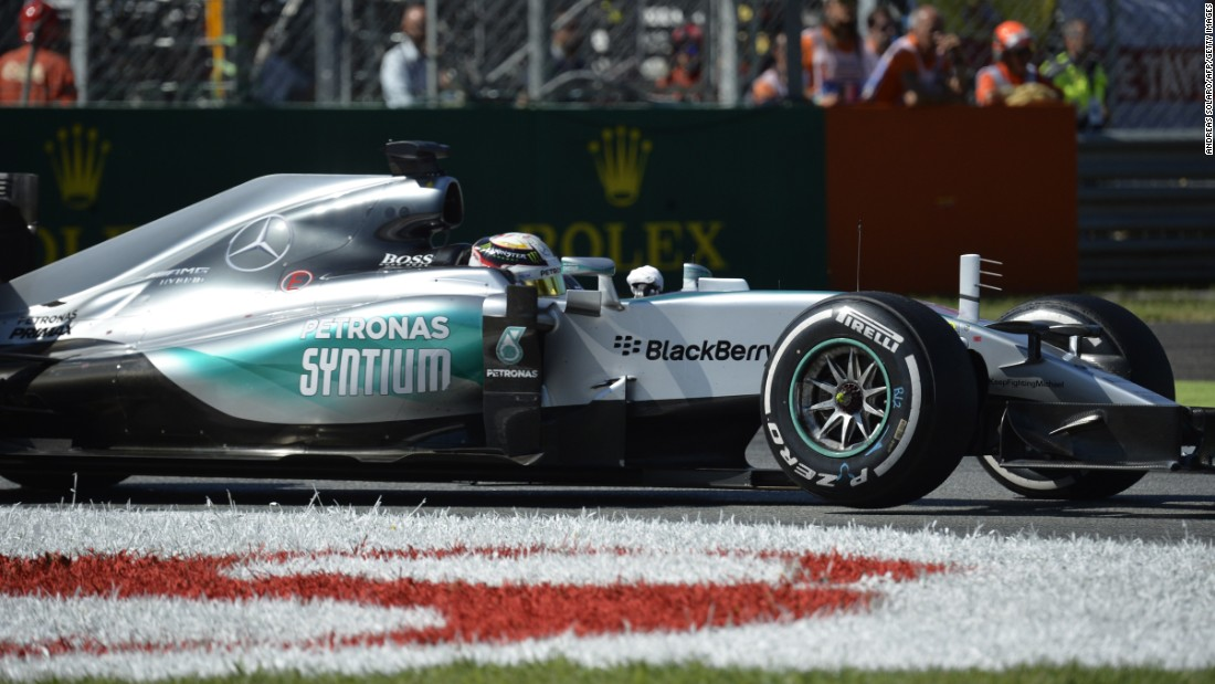Championship leader Lewis Hamilton, from the United Kingdom, established an early lead in his Mercedes after starting on pole position, knowing a win would take him another step closer to regaining his drivers' title.