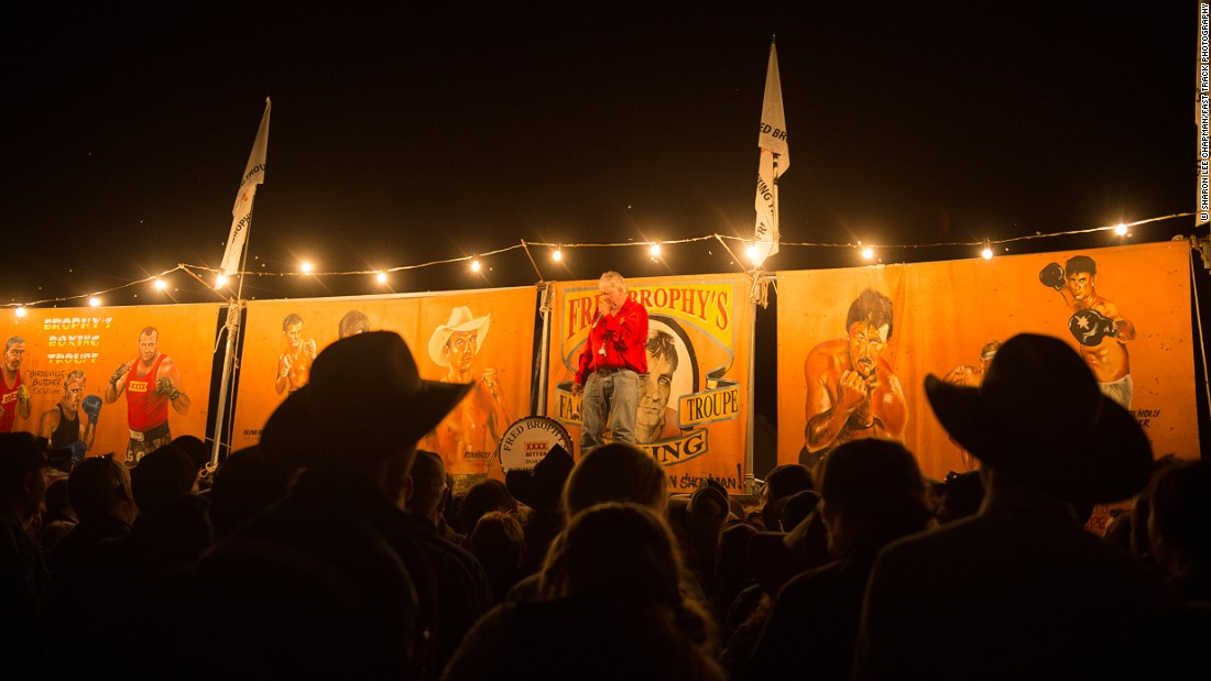 """No trip to Birdsville is complete without a visit to the Birdsville Pub and Fred Brophy's Boxing Tent, the last of its kind in the world, where visitors have the chance to challenge Fred's Boxing Troupe,"" Chapman says."