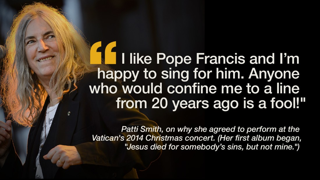 A variety of celebrities and other public figures across a variety of faiths -- and none -- have expressed their support for Pope Francis. Here is a selection of their comments.
