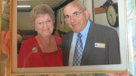 """Virginia and Albert Poland were married for 62 years. """"He was my best friend. He was my buddy,"""" she says."""