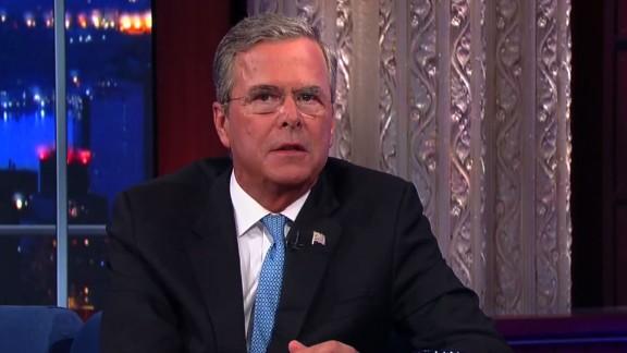Jeb Bush Colbert Donald Trump imitation orig dlewis_00000000.jpg
