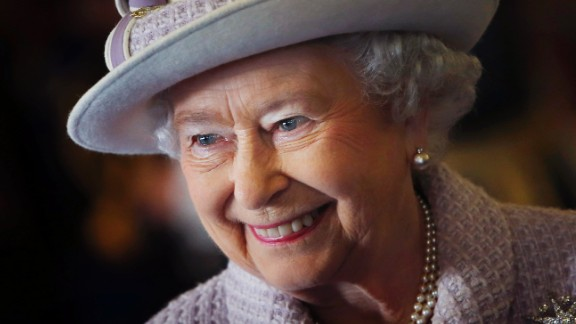 LOSSIEMOUTH, SCOTLAND - NOVEMBER 20:  Queen Elizabeth II is seen during a visit to RAF Lossiemouth on her 67th wedding anniversary on November 20, 2014 in Lossiemouth, Scotland. It was the Queen