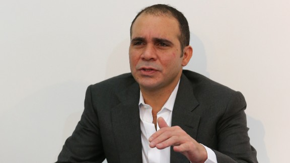 Prince Ali bin Al-Hussein of Jordan announced his presidency bid in September. He was the sole challenger to Sepp Blatter in the May 29 election but conceded defeat after receiving 73 votes to the Swiss