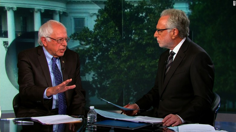 Bernie Sanders explains why he's up in the polls