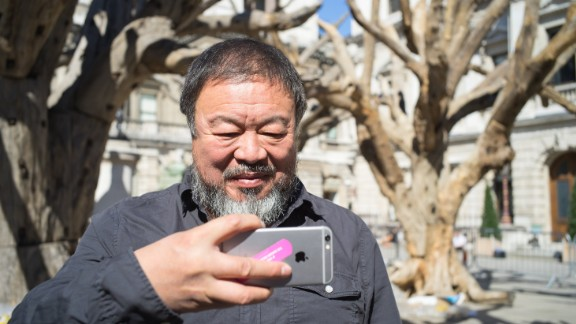 """Ai is a prolific user of social media. He is not, he says, an artist who designs for museums.  """"I design for the people, for communication on [the] Internet; for selfies."""""""