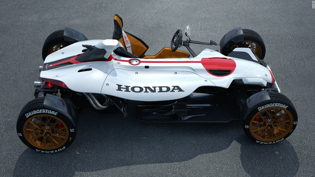 Hondas New Motorcycle Race Car Hybrid