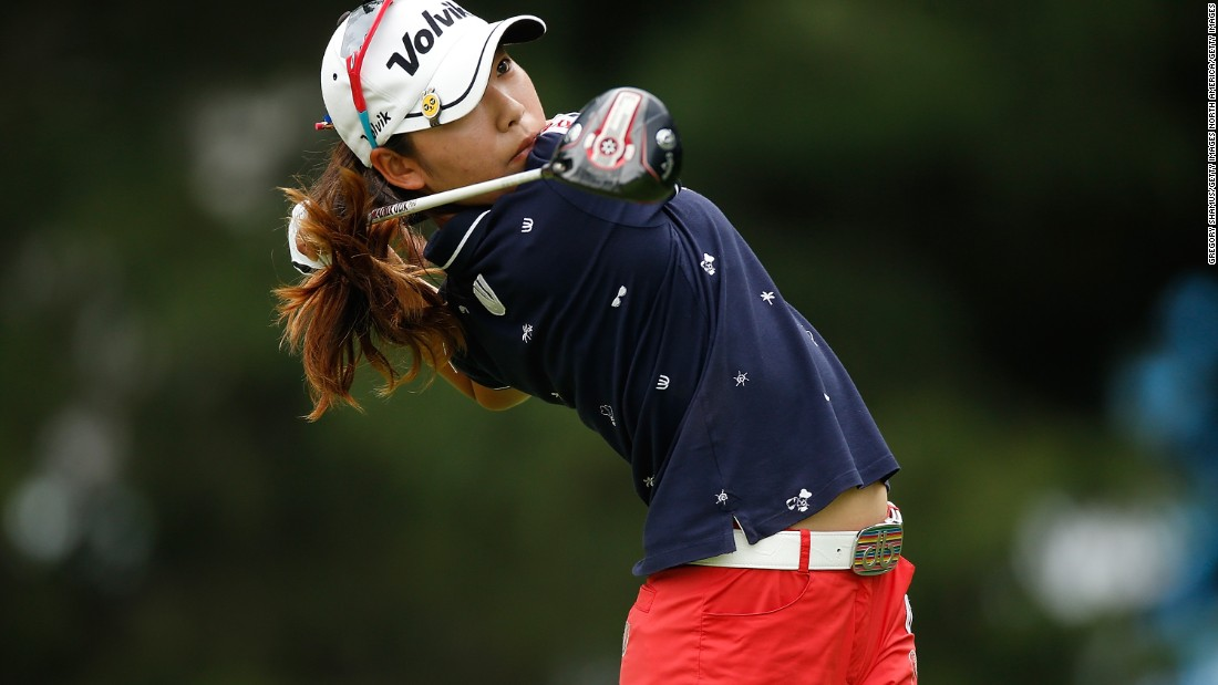 Mi Hyang Lee of South Korea joined Lexi Thompson at the top of the leaderboard with a birdie at the final hole.