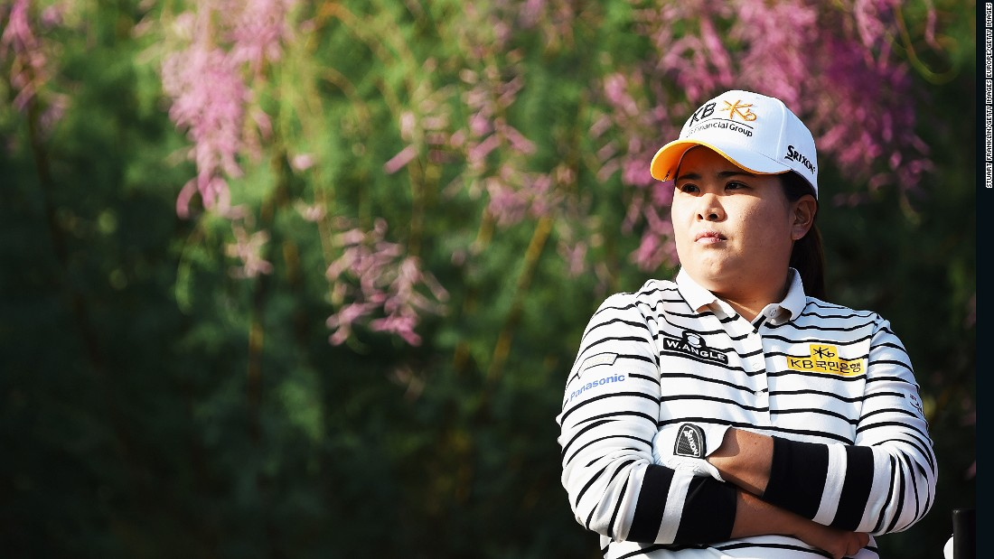 Inbee Park ponders during the first round. The South Korea, who is bidding to win her eighth grand slam title opened with a one-over 72.