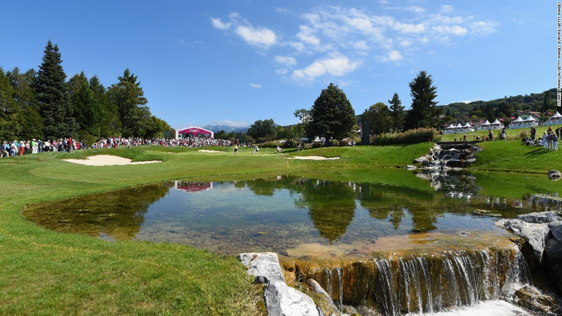 A picturesque setting for the final major of the LPGA season. The Evian Championship at Evian-les-Bains, France attracts the world's best women's golfers.