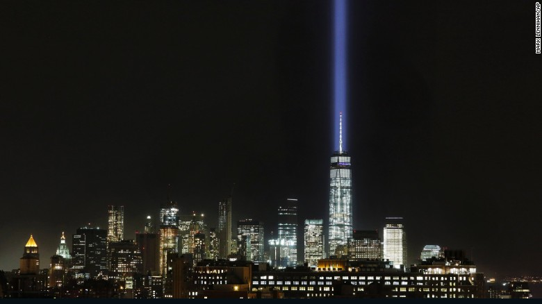 Superb The Tribute In Light Illuminates The Sky Behind One World Trade Center And  The Lower Manhattan Awesome Design