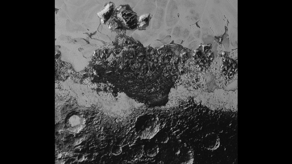 Pluto's landscape has lots of variety: plains, mountains, craters and what looks like they might be dunes. The smallest details on the photos are about half a mile wide. The area with the craters is ancient, scientist say. The smooth frozen planes are relatively young.