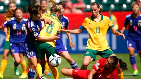 Australia play Japan in the quarterfinals of the Women's World Cup in June this year.