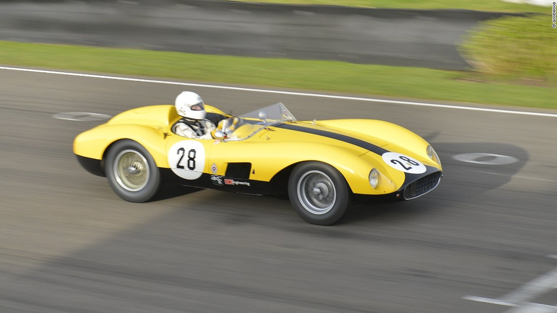 "The Ferrari TRC was in produced in 1957. A similar model to the one pictured here was sold at a <a href=""http://www.rmsothebys.com/ve11/villa-deste/lots/1957-ferrari-500-trc-spider-by-scaglietti/664015"" target=""_blank"">Sotheby's auction</a> for €2,800,000 ($3.2 million) in 2011. More than 50 Ferrari race and road cars will be appearing at this year's Goodwood Revival."